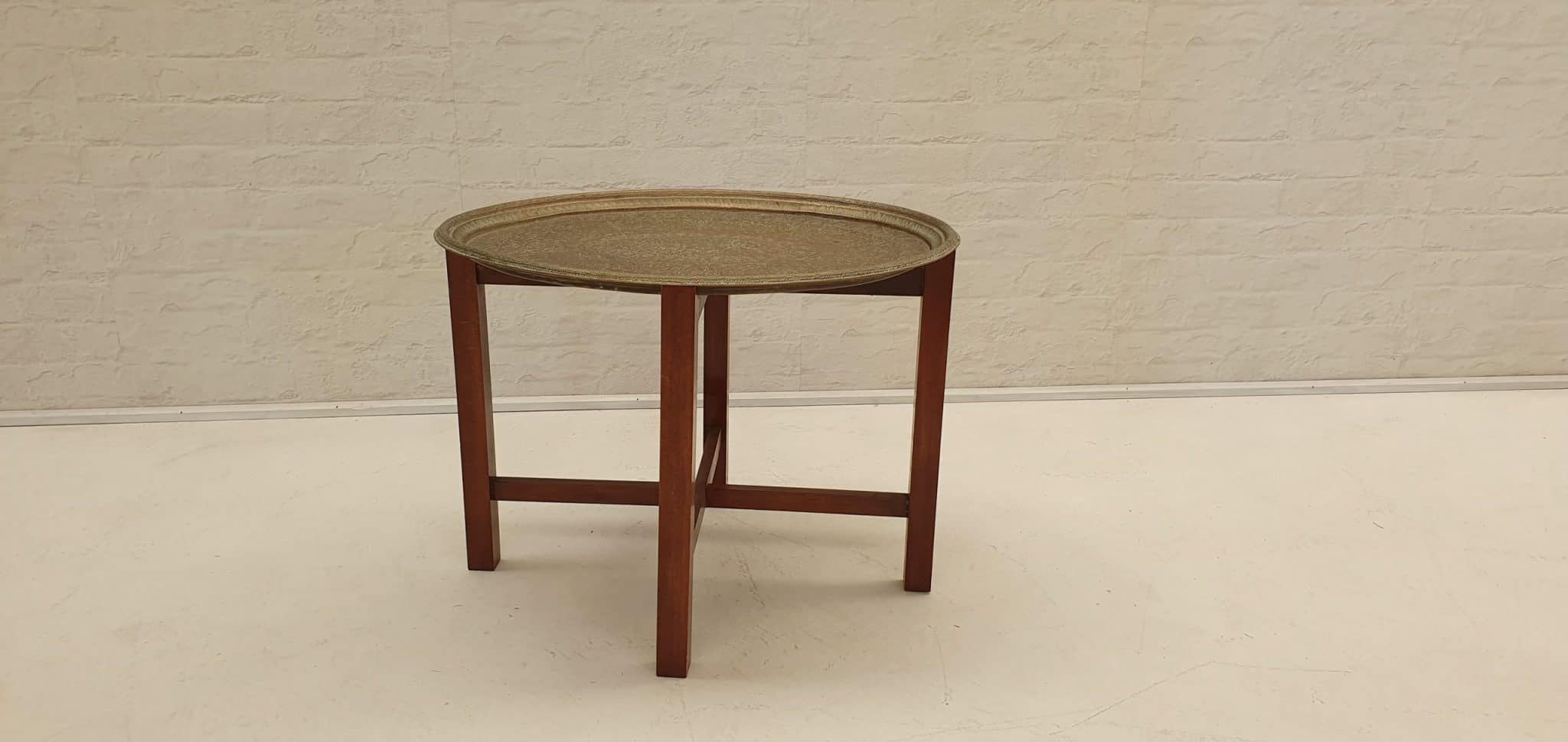Picture of: Boho Brass Top Side Table Wanaka Wedding Hire